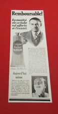 ADVERTISING PUB PUBLICITE ANCIENNE ADVERT 2.3 TUBE CREME A RASER PALMOLIVE 1932
