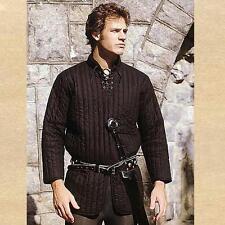 Medieval Fantasy Renaissance Black Royal Gambeson Armor Doublet Jacket M L Xl