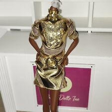 BARBIE STAR WARS X BARBIE C3PO barbie basics gold dress only COLLECTOR