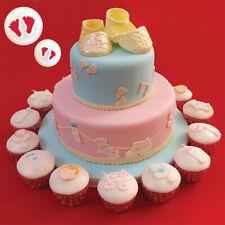 1 Set Baby Feet Fondant Cutter Craft Cake Mold Sugar Bakeware Decorating Tool