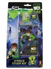 Ben 10 Alien Force '4 Piece' Study Kit Stationery Set Pencil  Eraser Notepad New