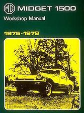 FACTORY WORKSHOP SERVICE OWNERS REPAIR MANUAL BOOK MG MIDGET 1500 1975-1979