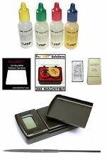 10pcs GOLD TESTING KIT 1kg/0.1g GRAM JEWELRY SCALE Test scrap Bar Coin ounce/oz