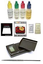 10pcs GOLD TESTING KIT 1kg/0.1g GRAM JEWELRY SCALE Test scrap Bar Coin ounce/oz