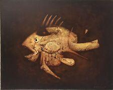 Di Maccio Gérard huile sur toile signée art fantastique surréaliste visionnaires
