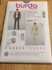 Burda Pattern 7194 Men's Suit, Jacket, Pants  Sz 36-44