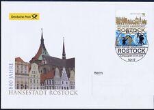 BRD 2018: Hansestadt Rostock 800 Jahre Post-FDC der Nr. 3395! Gelaufen! 1808