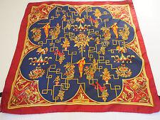 "Ferragamo Christmas Holiday Figures Scarf Foulard Carre Handkerchief Great 16"""