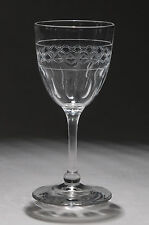 Antique Edwardian Cut & Etched Good Quality Sherry Glass c1905