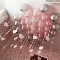 """12""""inch Heavy Duty 100 Pearl Balloons curling string ribbon holographic metallic"""