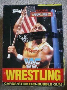 1987 Topps WWF Wrestling Wax Box Wrestlemania 3 Hulk Hogan