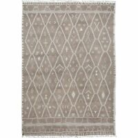 Tribal Natural Dye Moroccan Geometric Hand-Knotted Wool Oriental Area Rug 10x14
