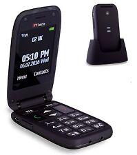 TTfone Meteor Big Button Flip Vodafone Pay As You Go Mobile Phone - Black