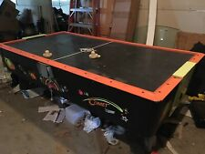 New listing VINTAGE COMMERCIAL SIZE HEAVY DUTY AIR HOCKEY GAME 99 INCHES LONG 51 INCHES WIDE