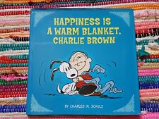 Charlie Brown PEANUTS |  Happiness is a Warm Blanket Dust Jacket