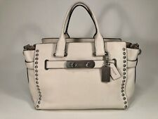 COACH Swagger STUDDED Carryall In Pebble Leather 35792
