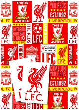 Official Football Gift Wrap Wrapping Paper Premiership Club - Choose Your Amount Liverpool FC 2 Sheets 2 Tags
