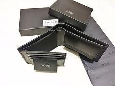 """Brand New Designer Hugo Boss Wallet Style """"Monad"""" Black Trifold Boxed"""