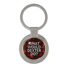 ¿ Qué sería de Dexter hacer? Grueso Llavero Regalo En Caja salpicaduras de sangre Nuevo
