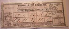 BIGLIETTO TOMBOLA NAZIONALE 1907 beneficio OSPEDALI AREZZO CAMPOBASSO  19/1/18