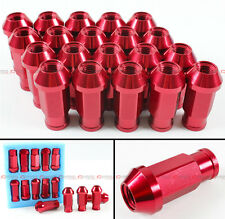 20PCS 1.5MM X M12 JDM RED WHEEL RACING LUG NUTS FOR CIVIC EG SI EF FD 8TH GEN EK