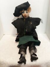 Daddy's Long Legs Doll Mamie the Pig Very Rare Hang Tag Artist Signed Weeks 1991