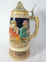 Vintage Beer Stein with Musical Box WORKING German Scene