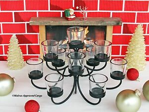 POTTERY BARN IRON VOTIVE CANDELABRA CENTERPIECE – LIGHTEN UP YOUR MEAL TIME!