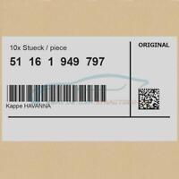 10x Original BMW 51161949797 - Kappe HAVANNA