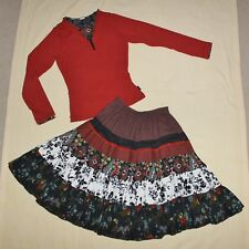 Amazing Jottum 2 pc Rembrandt set, Torricelli Gypsy Skirt 140 & 2-layer top 152