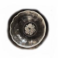 Vintage Val St. Lambert Crystal 'Brussels' Intaglio Fruit Pattern Bowl