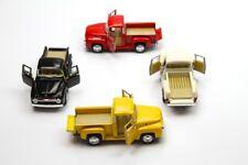 "Set of 4: 5"" Kinsmart 1956 Ford F-100 Pickup Truck Diecast Model Toy Car 1:38"