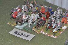 25 mm Caballeros Medievales/inglés - 12 figuras-CAV (25908)
