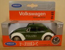 WELLY VW Käfer Polizei / Feuerwehr Metall 11 Cm 21603