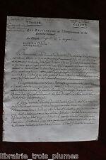 ✒ août 1798 Circulaire signée sur les CARTES à jouer - autographe régicide