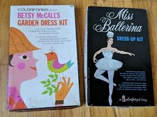 DOUBLE!! 1962 Miss Ballerina Dress-Up Kit & 1960 Betsy McCall's Garden Dress Kit