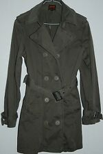 Schott NYC Military Style Jacket Cotton Trench Coat Camouflage Coyote Green L