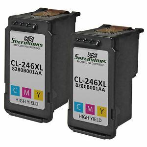 2pk For Canon CL-246XL 8280B001AA HY MG2420 MG2520 iP2820 MG2924 MG2920 MG2922