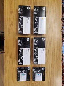 HP Latex 792 Ink (Lt Cyan, Lt Magenta, Yellow & Black) & Two (2) Cyan Printheads