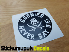 Goonies Never say Die, Retro funny Car, Motorbike Vdub, laptop Sticker HQ print