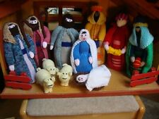 Newly hand knitted Christmas Xmas nativity scene