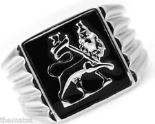 MENS LION OF JUDAH SILVER STAINLESS STEEL RING SIZE 7 8 9 10 11 12 13 14