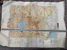 Original WW2 British Army RAF Map 1941 Dated Map of Kenya Colony