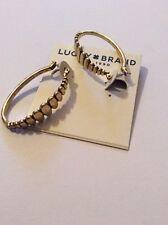 $29 Lucky Brand Gold Tone Oval Hoop Earrings #636