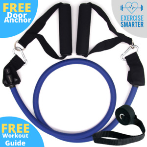 Resistance Band Heavy Duty Thick Tube Set Handles Exercise Fitness Strength