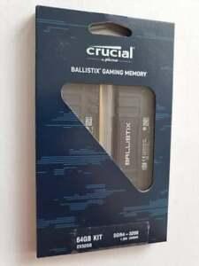 🤩 64GB 3200MHz DDR4 (2x32GB) Crucial Ballistix Kit Black BL2K32G32C16U4B CL16'