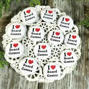 "12 New Packaged Board Games Pins 1 1/4"" Pinback Buttons * Party Favor Gift USA"