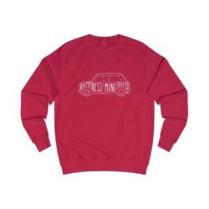 Happiness is Classic Mini Car Shaped Men's Sweatshirt, Men's unisex sweatshirts