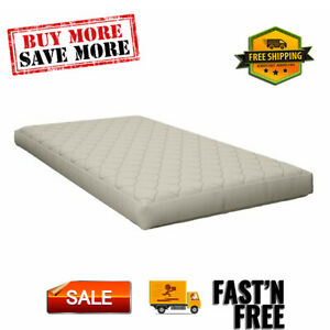 """Value 6"""" Polyester Filled Quilted Top Bunk Bed Mattress, Navy, for kids bedroom."""