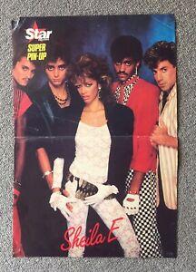 Shelia E Poster ORIGINAL from 1984 Prince Purple Rain